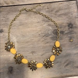 J. Crew yellow and gold statement necklace.
